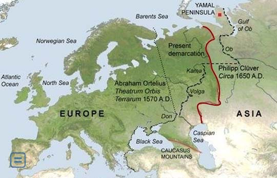 europe asia border map Is there a border between Europe and Asia